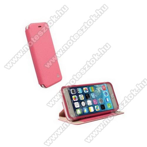 APPLE iPhone 6KRUSELL FlipCase MALMÖ műanyag védő tok / bőr hátlap - oldalra nyíló flip - 75901 - RÓZSASZÍN - APPLE IPhone 6 - GYÁRI