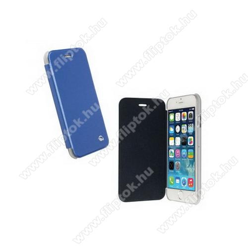 APPLE iPhone 6KRUSELL FlipCover BODEN műanyag védő tok / átlátszó hátlap - oldalra nyíló bőr flip cover - KÉK - 75976 - APPLE iPhone 6 - GYÁRI