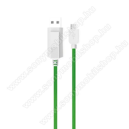 SONY Xperia XZ2 Premium (2018)KUCIPA Luminous 2A adatátvitel adatkábel / USB töltő - USB / Type-C, 1m - sötétben világít - ZÖLD