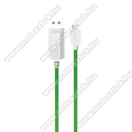 OPPO R17 ProKUCIPA Luminous 2A adatátvitel adatkábel / USB töltő - USB / Type-C, 1m - sötétben világít - ZÖLD