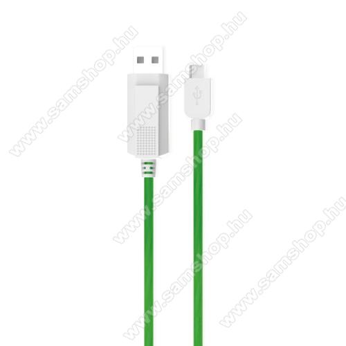 SAMSUNG SM-A600F Galaxy A6 (2018)KUCIPA Luminous 2A adatátvitel adatkábel / USB töltő - USB / Type-C, 1m - sötétben világít - ZÖLD