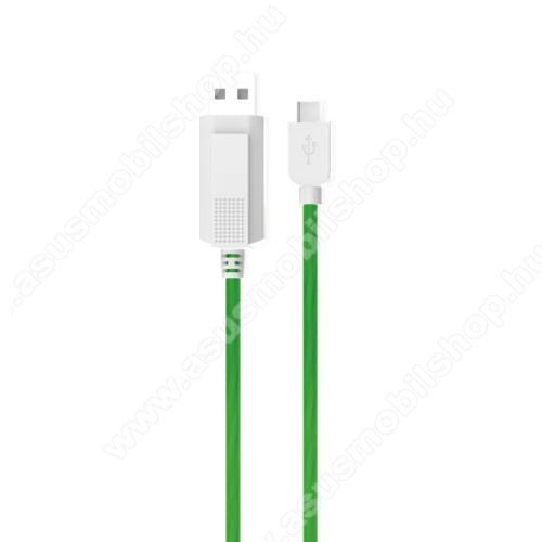 ASUS Zenfone AR (ZS571KL)KUCIPA Luminous 2A adatátvitel adatkábel / USB töltő - USB / Type-C, 1m - sötétben világít - ZÖLD