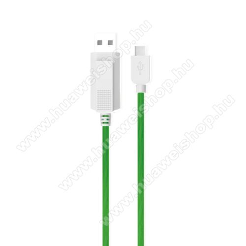 HUAWEI Nexus 6PKUCIPA Luminous 2A adatátvitel adatkábel / USB töltő - USB / Type-C, 1m - sötétben világít - ZÖLD