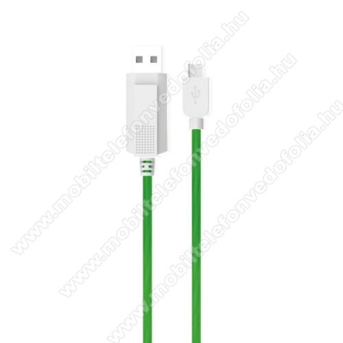 NOKIA 7.1KUCIPA Luminous 2A adatátvitel adatkábel / USB töltő - USB / Type-C, 1m - sötétben világít - ZÖLD