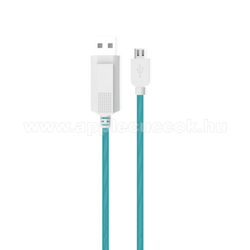 KUCIPA Luminous 2A adat�tvitel adatk�bel / USB t�lt? - USB / microUSB, 1m - s�t�tben vil�g�t - K�K