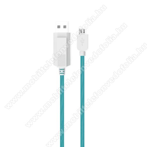 OPPO F7 YouthKUCIPA Luminous 2A adatátvitel adatkábel / USB töltő - USB / microUSB, 1m - sötétben világít - KÉK
