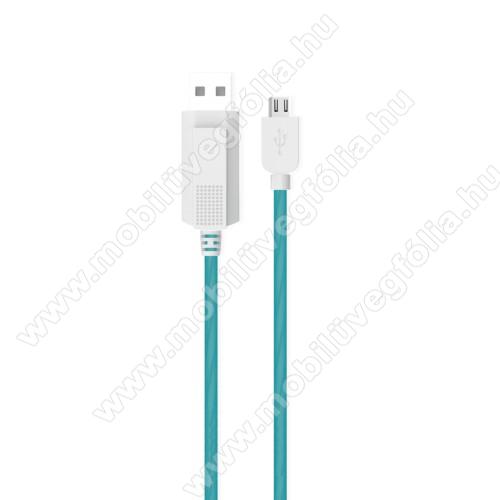 DJI Mavic ProKUCIPA Luminous 2A adatátvitel adatkábel / USB töltő - USB / microUSB, 1m - sötétben világít - KÉK