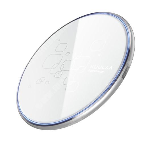 LG G4c (H525N) KUULAA QI Wireless hálózati töltő állomás vezeték nélküli töltéshez - 15W csúszásgátló, Type-C töltőport, fogadóegység nélkül! - FEHÉR - KL-CD14 - GYÁRI