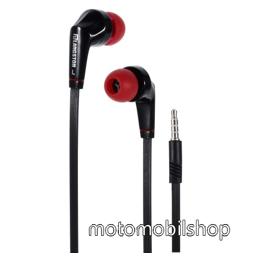 MOTOROLA Moto E6 Play (XT2029) Langston JD88 univerzális sztereo headset - 3,5mm jack csatlakozó - FEKETE / PIROS