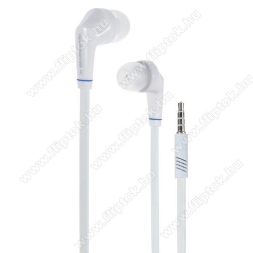 Huawei Enjoy 10Langston JD88 univerzális sztereo headset - 3,5mm jack csatlakozó - FEHÉR