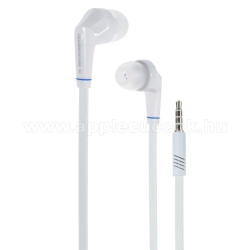 APPLE iPhone 6 Plus Langston JD88 univerzális sztereo headset - 3,5mm jack csatlakozó - FEHÉR