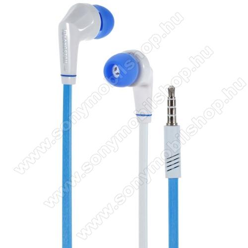 SONY Xperia M DUALLangston JD88 univerzális sztereo headset - 3,5mm jack csatlakozó - FEHÉR / KÉK