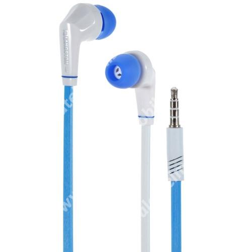 ALCATEL A5 LED Langston JD88 univerzális sztereo headset - 3,5mm jack csatlakozó - FEHÉR / KÉK