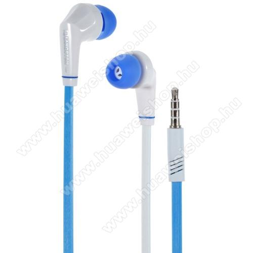HUAWEI MediaPad 10 LinkLangston JD88 univerzális sztereo headset - 3,5mm jack csatlakozó - FEHÉR / KÉK