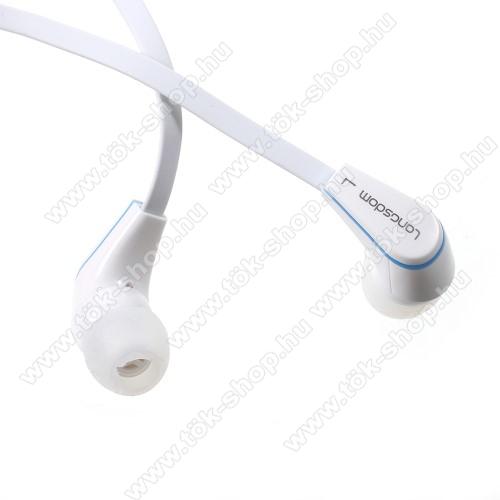 SAMSUNG SM-T547 Galaxy Tab Active Pro (LTE)Langston JM-12 univerzális sztereo headset - 3,5mm jack csatlakozó, felvevő gombos - FEHÉR