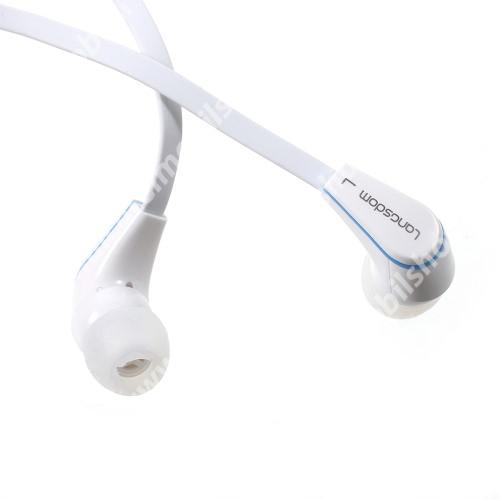 Langston JM-12 univerzális sztereo headset - 3,5mm jack csatlakozó, felvevő gombos - FEHÉR