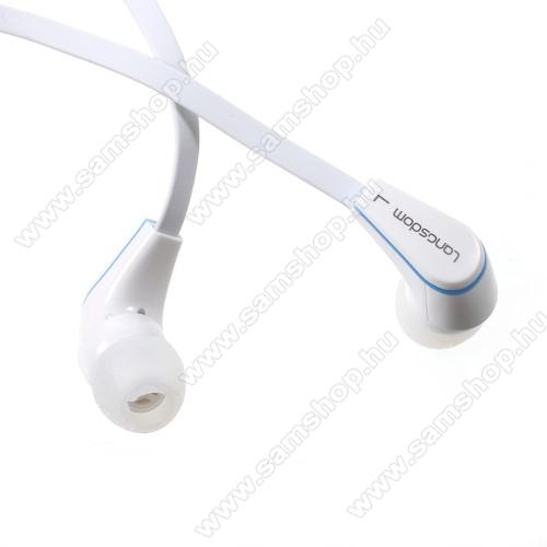 SAMSUNG Galaxy Grand Duos (GT-I9082)Langston JM-12 univerzális sztereo headset - 3,5mm jack csatlakozó, felvevő gombos - FEHÉR