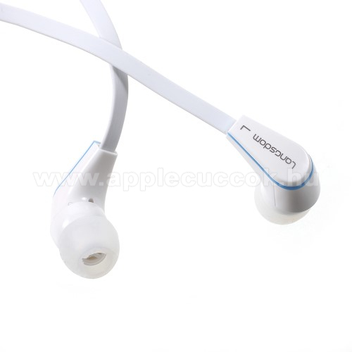 APPLE iPhone 3GLangston JM-12 univerzális sztereo headset - 3,5mm jack csatlakozó, felvevő gombos - FEHÉR