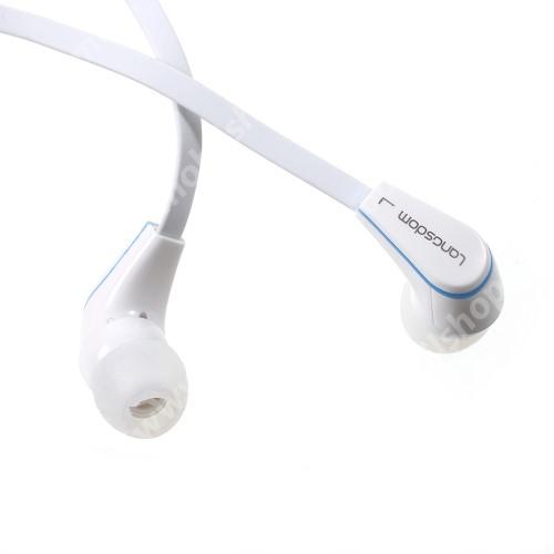 ACER Iconia Tab A3-A20 Langston JM-12 univerzális sztereo headset - 3,5mm jack csatlakozó, felvevő gombos - FEHÉR