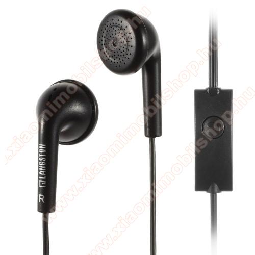 Langston Q1 UNIVERZÁLIS sztereo headset - 3,5mm jack csatlakozó, felvevő gombos, 120cm vezeték - FEKETE