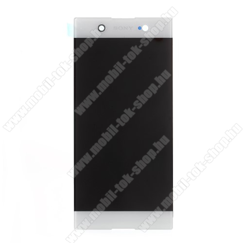 LCD kijelző - FEHÉR - komplett plexi ablak érintő panellel, KERET NÉLKÜL! - SONY Xperia XA1 Ultra (G3221 / G3223 / G3212 / G3226) - GYÁRI