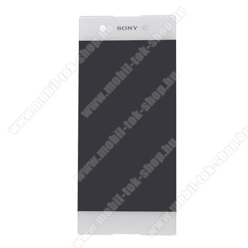 LCD kijelző - FEHÉR - komplett plexi ablak érintő panellel, KERET NÉLKÜL! - Sony Xperia XA1 - GYÁRI