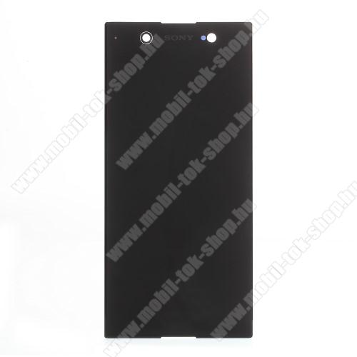 LCD kijelző - FEKETE - komplett plexi ablak érintő panellel, KERET NÉLKÜL! - SONY Xperia XA1 Ultra (G3221 / G3223 / G3212 / G3226) - GYÁRI