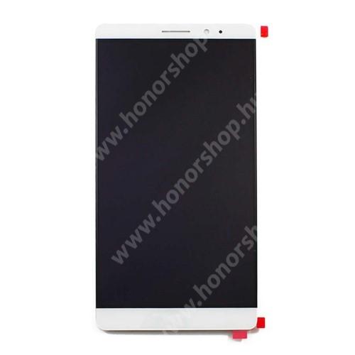 LCD kijelző komplett panel, előlap keret nélkül! - FEHÉR - HUAWEI Mate 8 - GYÁRI