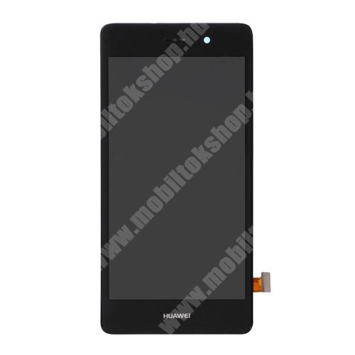 LCD kijelző komplett panel, előlap kerettel! - FEKETE - HUAWEI P8 lite - Utángyártott
