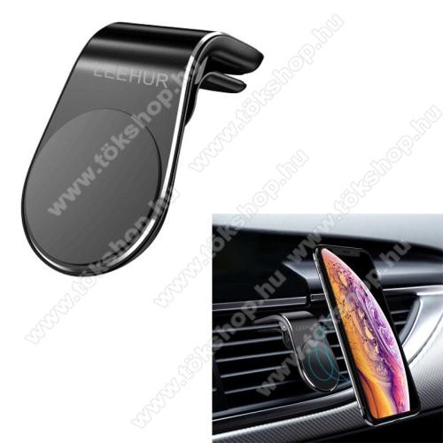 OnePlus Nord N10 5GLEEHUR Magnetic autós / gépkocsi tartó - mágneses, szellőzőrácsra rögzíthető - FEKETE - GYÁRI