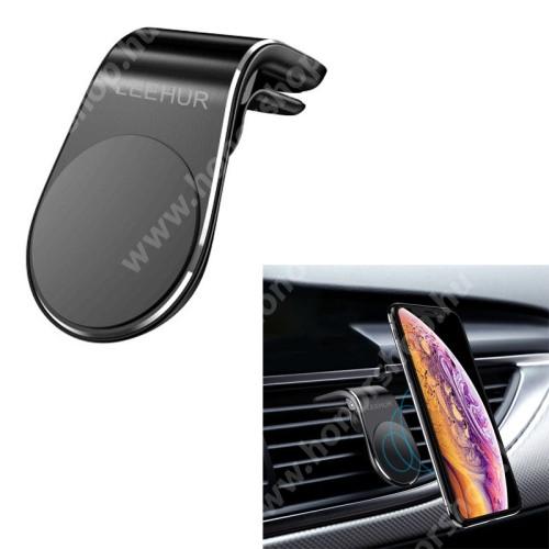HUAWEI MediaPad X2 LEEHUR Magnetic autós / gépkocsi tartó - mágneses, szellőzőrácsra rögzíthető - FEKETE - GYÁRI
