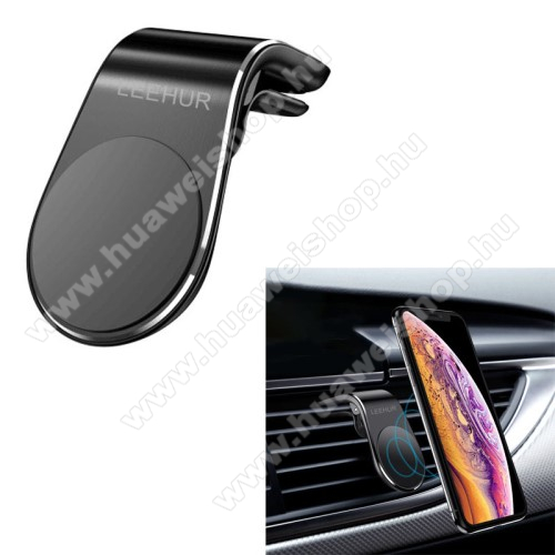 HUAWEI Honor Note 8LEEHUR Magnetic autós / gépkocsi tartó - mágneses, szellőzőrácsra rögzíthető - FEKETE - GYÁRI