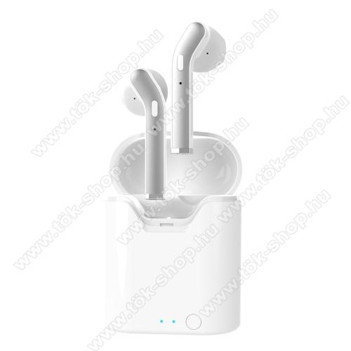 LEMONDA H17T TWS SZTEREO BLUETOOTH HEADSET - v5.0, többfunkciós gomb, mikrofon, zajszűrő, IPX5 cseppállóság, 4-5 óra zenehallgatási idő, 300mAh töltőtok - FEHÉR