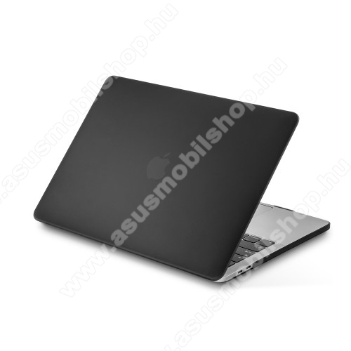 LENTION műanyag védő tok / hátlap - 2 részes kivitel, hőelvezető, csúszásgátló, ULTRAVÉKONY!- MATT - FEKETE - MacBook Pro 13
