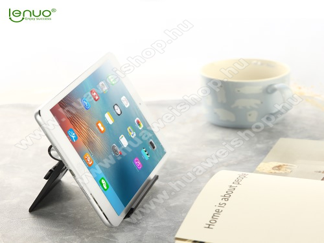 HUAWEI U8350 BoulderLENUO DL-19 univerzális asztali telefon tartó, állvány - 95 x 85mm méretű - FEKETE - GYÁRI