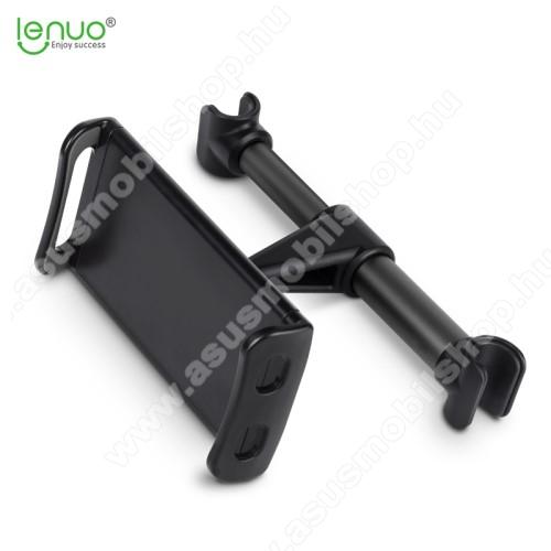 LENUO UNIVERZÁLIS autós tablet PC tartó - fejtámla rúdra rögzíthető, 200mm-ig állítható bölcsővel
