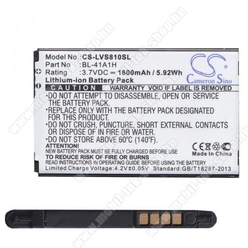 LG D390N F60 akkumulátor - 1600mAh Li-ION - (BL-41A1H utángyártott)