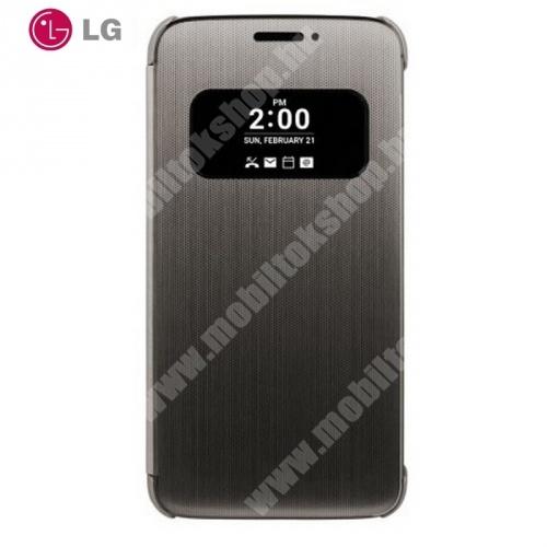 LG QuickWindow műanyag védő tok / hátlap - oldalra nyíló flip cover, hívószámkijelzés, és hívás felvételhez kivágás - CFV-160.AGEUBK  - FEKETE - LG G5 (H850)