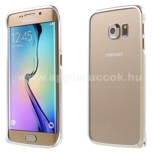LOVE MEI alum�nium v�d? keret - BUMPER - EZ�ST - SAMSUNG SM-G925F Galaxy S6 Edge