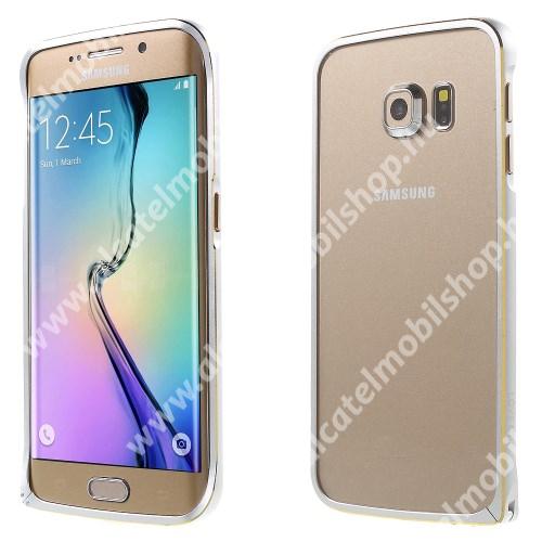 LOVE MEI alumínium védő keret - BUMPER - EZÜST - SAMSUNG SM-G925F Galaxy S6 Edge