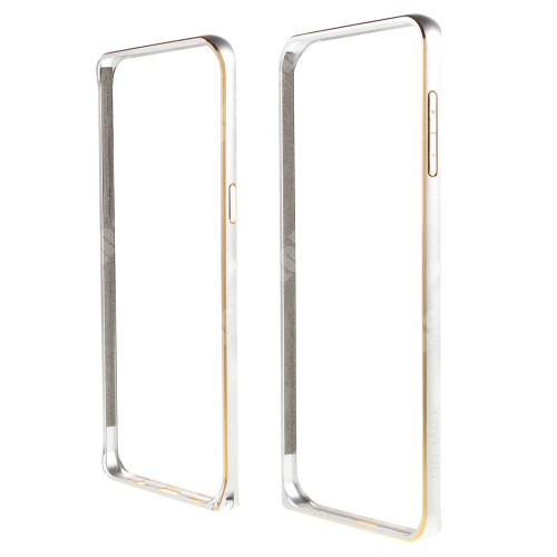 LOVE MEI alumínium védő keret - BUMPER - EZÜST - SAMSUNG SM-G928 Galaxy S6. Edge +