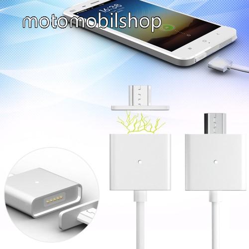 MOTOROLA Atrix HD (MB886) Mágneses adatátviteli kábel / USB töltő - microUSB 2.0, 1m hosszú, porvédő funkció, akár 2,4A töltőáram átvitelére képes - FEHÉR