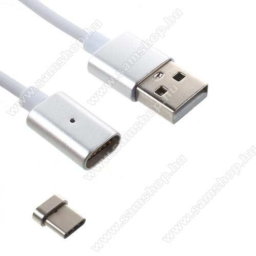 SAMSUNG SM-T835 Galaxy Tab S4 10.5 (LTE)Mágneses adatátviteli kábel / USB töltő - USB 3.1 Type C, 1m hosszú, porvédő funkció - EZÜST