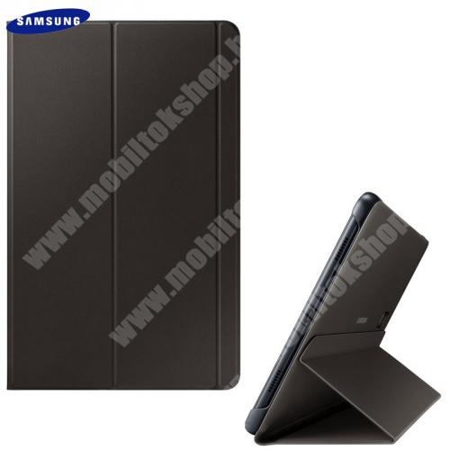 Mappa tok (FLIP, oldalra nyíló, asztali tartó funkció) FEKETE - EF-BT590PBE - Samsung Galaxy Tab A 10.5 WIFI (2018) SM-T590, Samsung Galaxy Tab A 10.5 LTE (2018) SM-T595 - GYÁRI