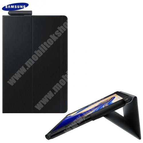 Mappa tok (FLIP, oldalra nyíló, asztali tartó funkció, érintőceruza tartó) FEKETE - EF-BT830PBE - Samsung Galaxy Tab S4 10.5 WIFI (SM-T830), Samsung Galaxy Tab S4 10.5 LTE (SM-T835) - GYÁRI