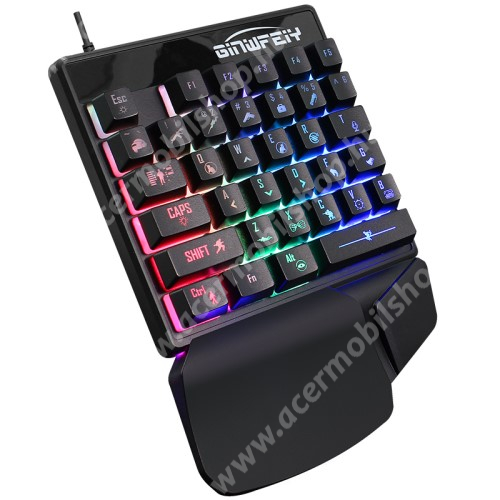 ACER Liquid Z3 Mechanikus Gamer egykezes billentyűzet - RGB háttérvilágítás, 35 gombos, csuklótámasz, 220 x 155 x 40 mm, USB-s csatlakozás - FEKETE