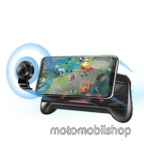 MOTOROLA MPX100 MEMO A-KING UNIVERZÁLIS kontroller / Joystick - ravasz FPS játékokhoz, gamepad, PUBG-hez ajánlott, kitámasztható, analóg, 52-83mm-ig nyíló bölcső - FEKETE - GYÁRI