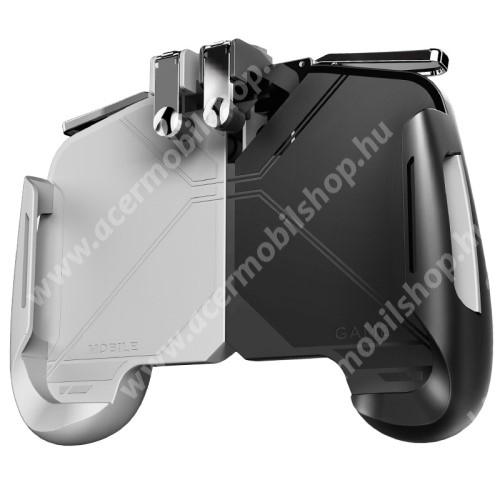 """ACER Liquid Z110MEMO AK16  UNIVERZÁLIS kontroller / Joystick - ravasz FPS játékokhoz, PUBG-hez ajánlott, maximális magasság 82mm, szélesség 173mm, 6.5""""-os méretig kompatibilis okostelefonokkal - FEHÉR / FEKETE - GYÁRI"""