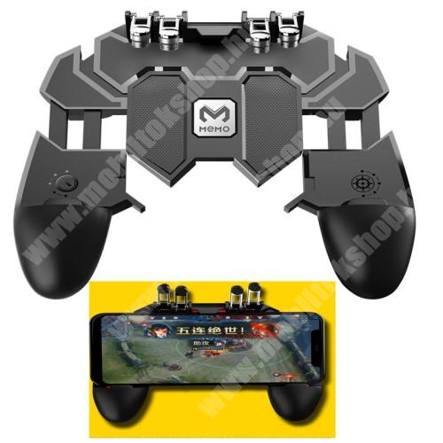 HTC Desire 12s MEMO AK66 UNIVERZÁLIS Kontroller / Joystick - ravasz FPS játékokhoz, PUBG-hez ajánlott, 67-90mm-ig nyíló bölcsővel - FEKETE - GYÁRI
