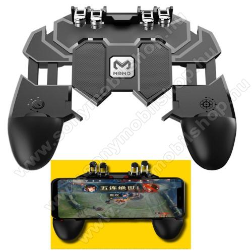 Sony Xperia XA1 PlusMEMO AK66 UNIVERZÁLIS Kontroller / Joystick - ravasz FPS játékokhoz, PUBG-hez ajánlott, 67-90mm-ig nyíló bölcsővel - FEKETE - GYÁRI